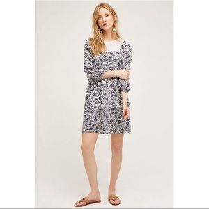 Anthropologie One September Coquille Peasant Dress